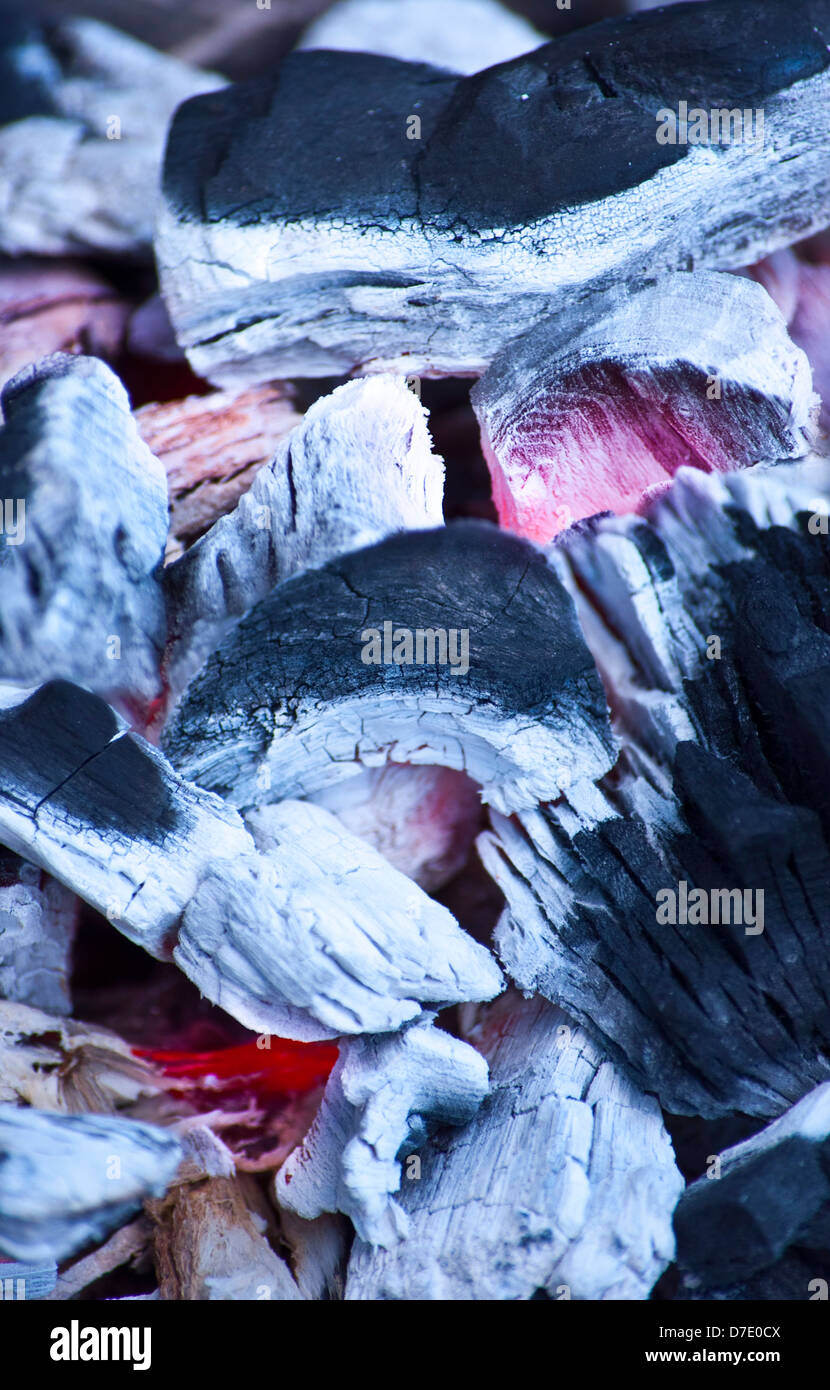 Detail hot charcoal - Stock Image