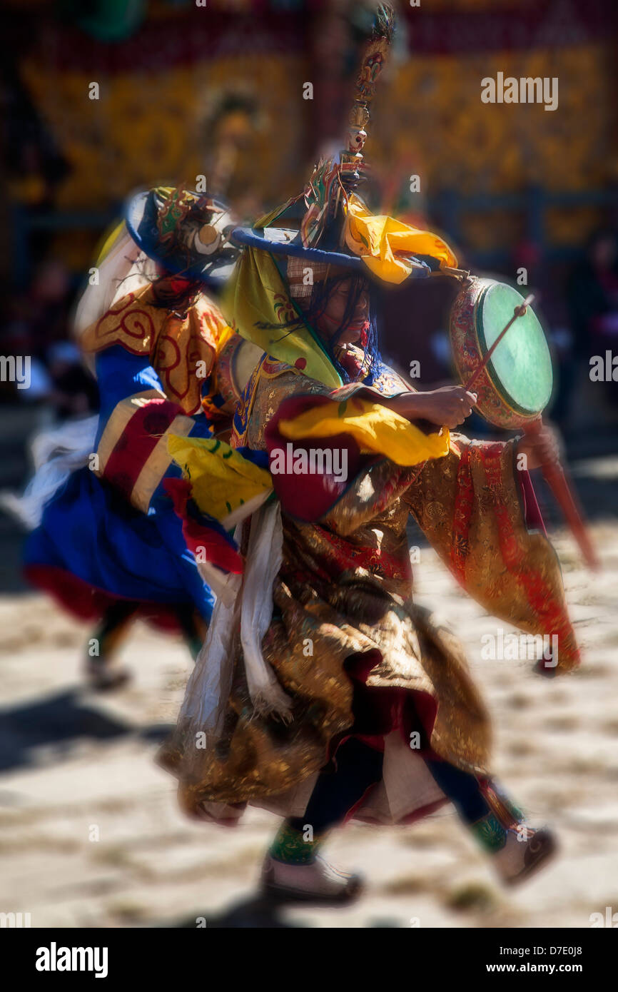 Jambey Lhakhang (monastery) festival in Jakar. Bumthang District. Bhutan. - Stock Image