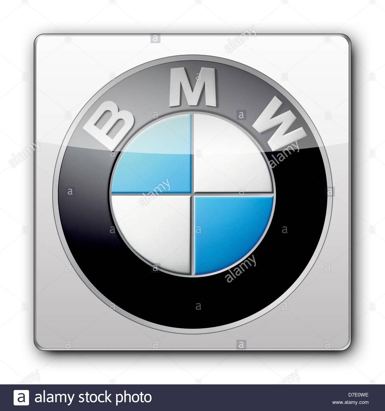 BMW logo icon app banner flag - Stock Image