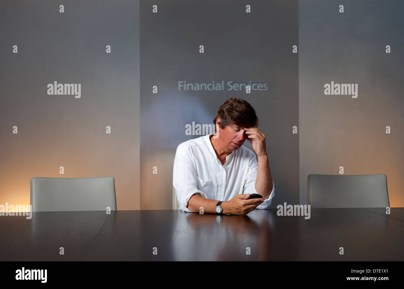 Recession... Depression... Financial Disaster - Stock Image