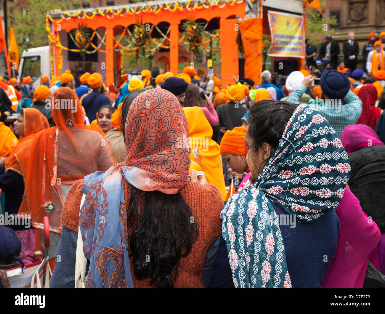 Manchester, UK. 5th May, 2013. The most important Vaisakhi celebration in the Sikh calendar marked by the Sikh Community Stock Photo
