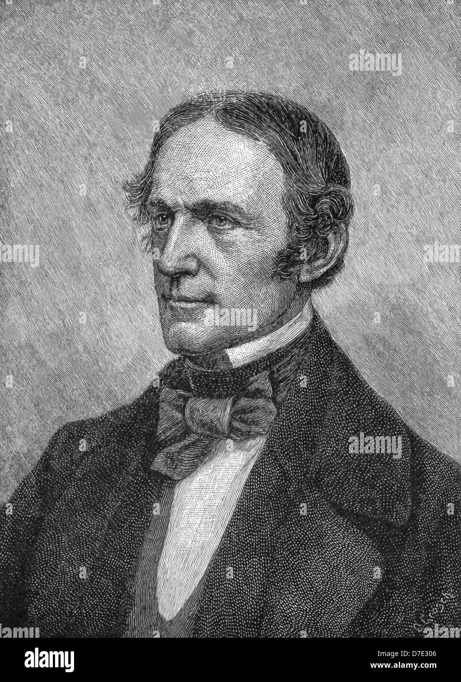 William Hickling Prescott (1796- 1859), first American scientific historian, was also an Hispanist. - Stock Image