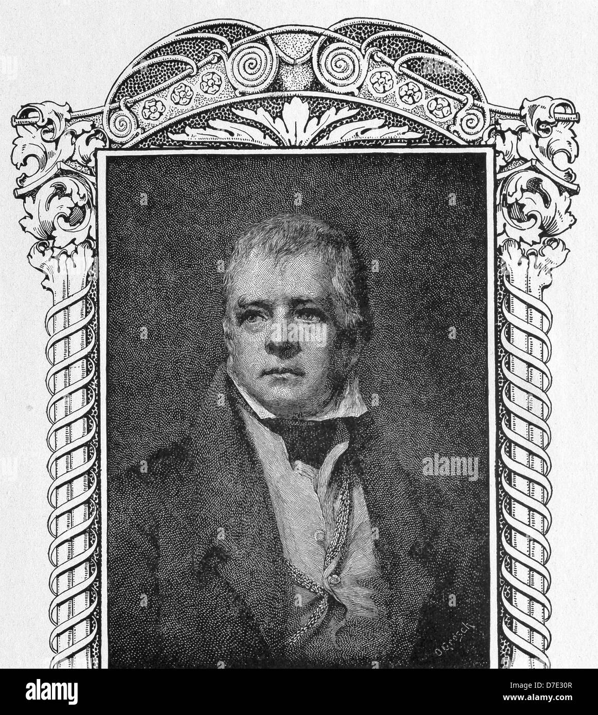 Scottish novelist and poet Sir Walter Scott is often credited as the inventor of the historical novel. - Stock Image