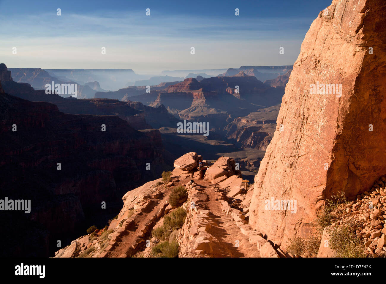 South Kaibab trail through Grand Canyon National Park, Arizona, United States of America, USA - Stock Image