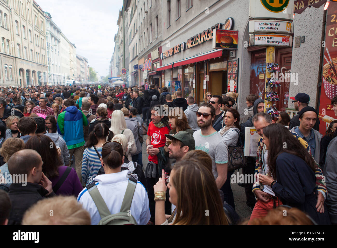 People Celebrating Traditional Labor Day At The First Of May In