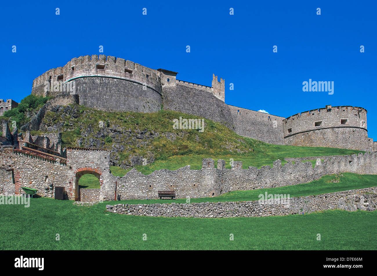 Europe Italy Trentino Alto Adige Besenello Castel Beseno - Stock Image