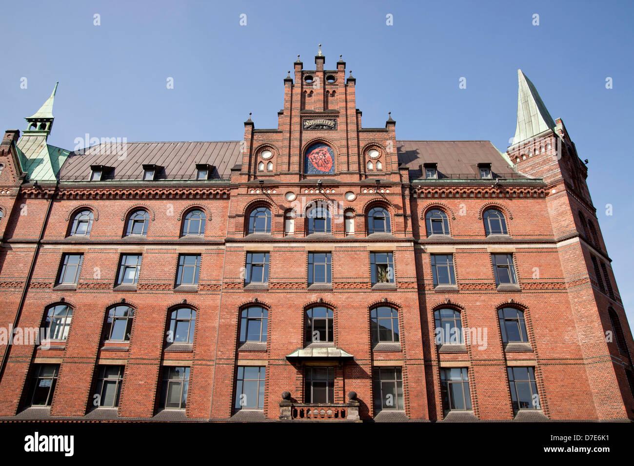 Sandthorquaihof in the Speicherstadt district, Free and Hanseatic City of Hamburg, Germany, Europe Stock Photo