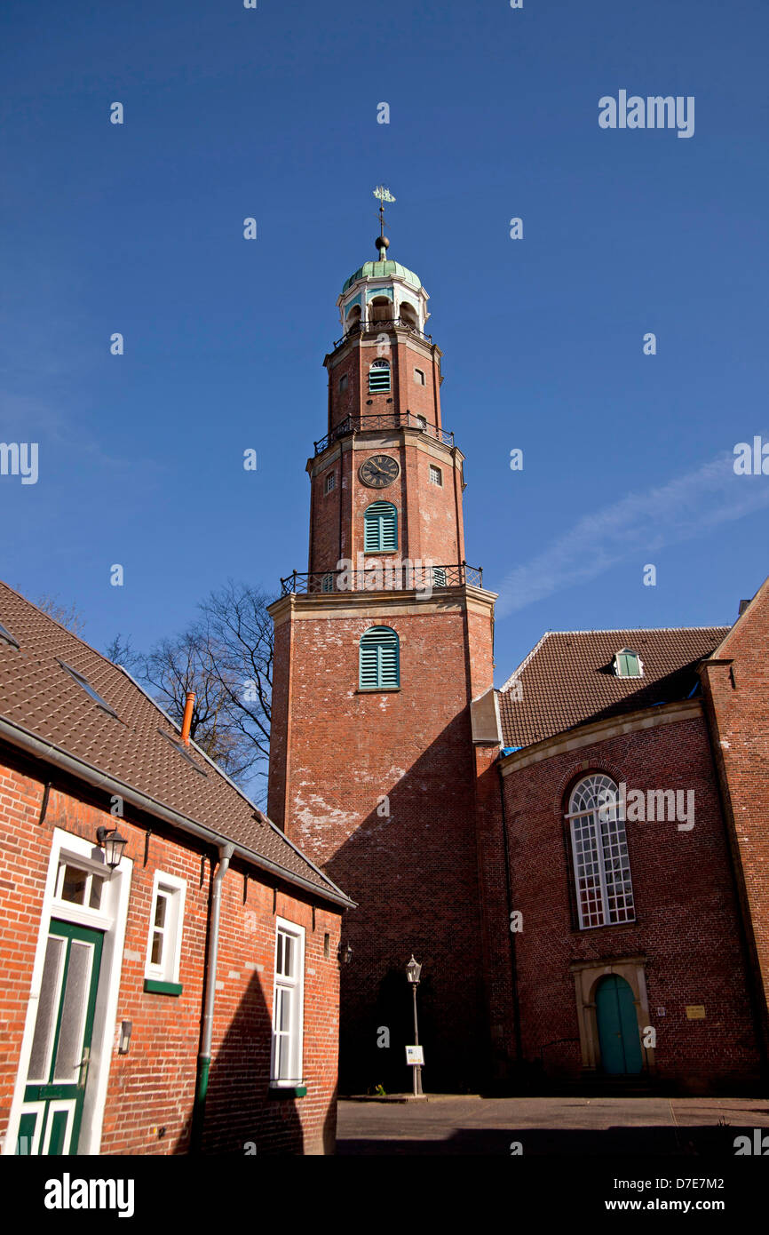 the church Große Kirche, head offic of the German Reformed Church in Leer, , East Frisia, Lower Saxony, Germany - Stock Image