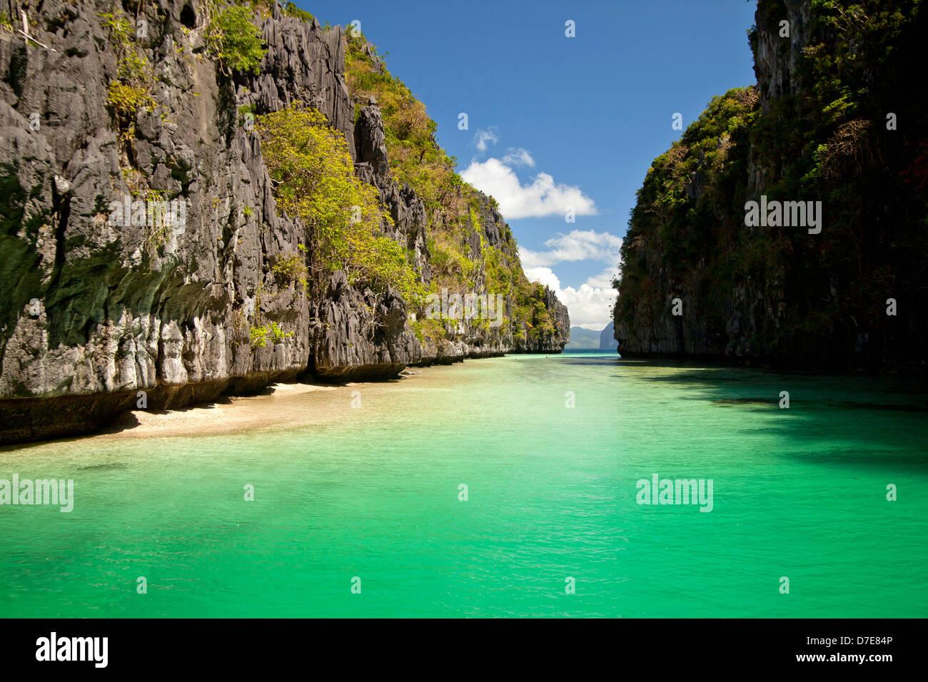 Big Lagoon Of Miniloc Island El Nido Palawan Philippines