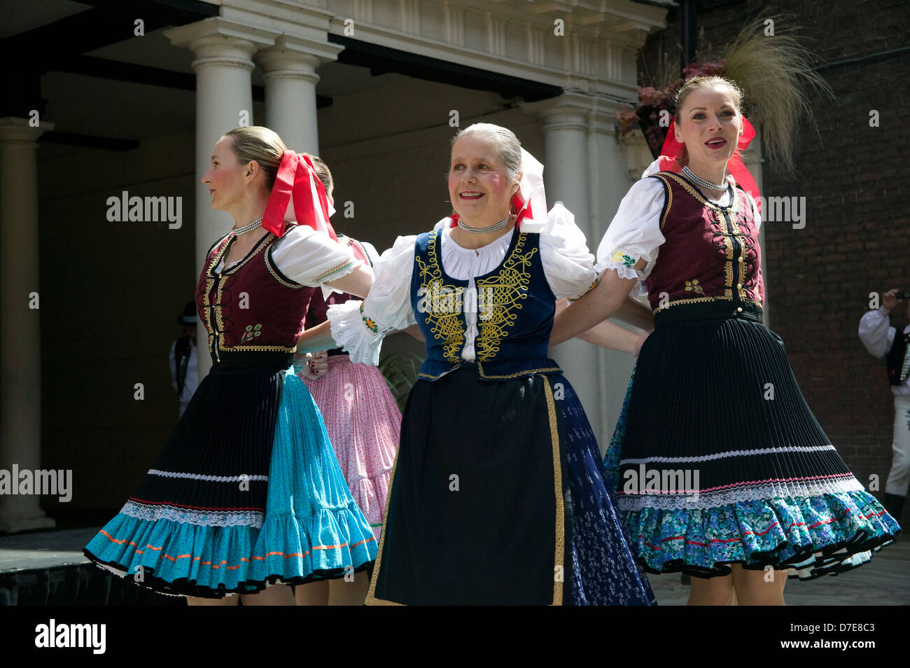 Slovakian Polish traditional dancers - Stock Image