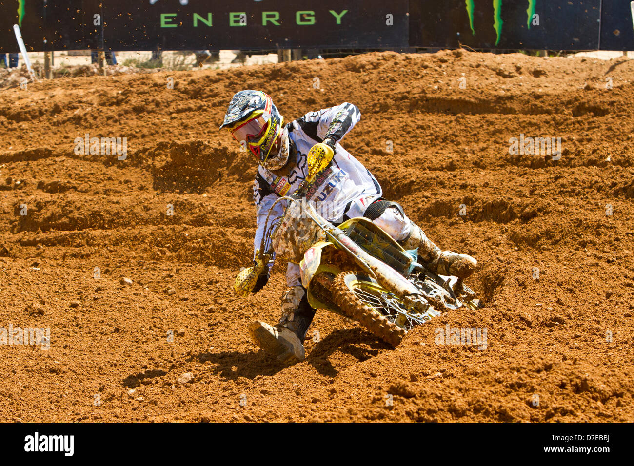 agueda, Portugal, 5th May 2013, World Championship MX1, Belgian Clement Desalle with a Suzuki 2nd race 1 and was Stock Photo