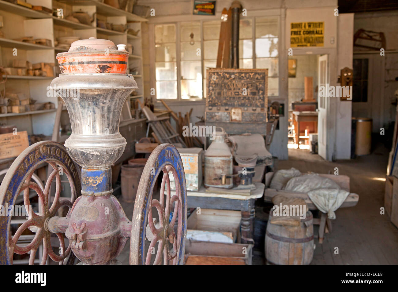 left behind belongings, ghost town Bodie, California, United States of America, USA - Stock Image