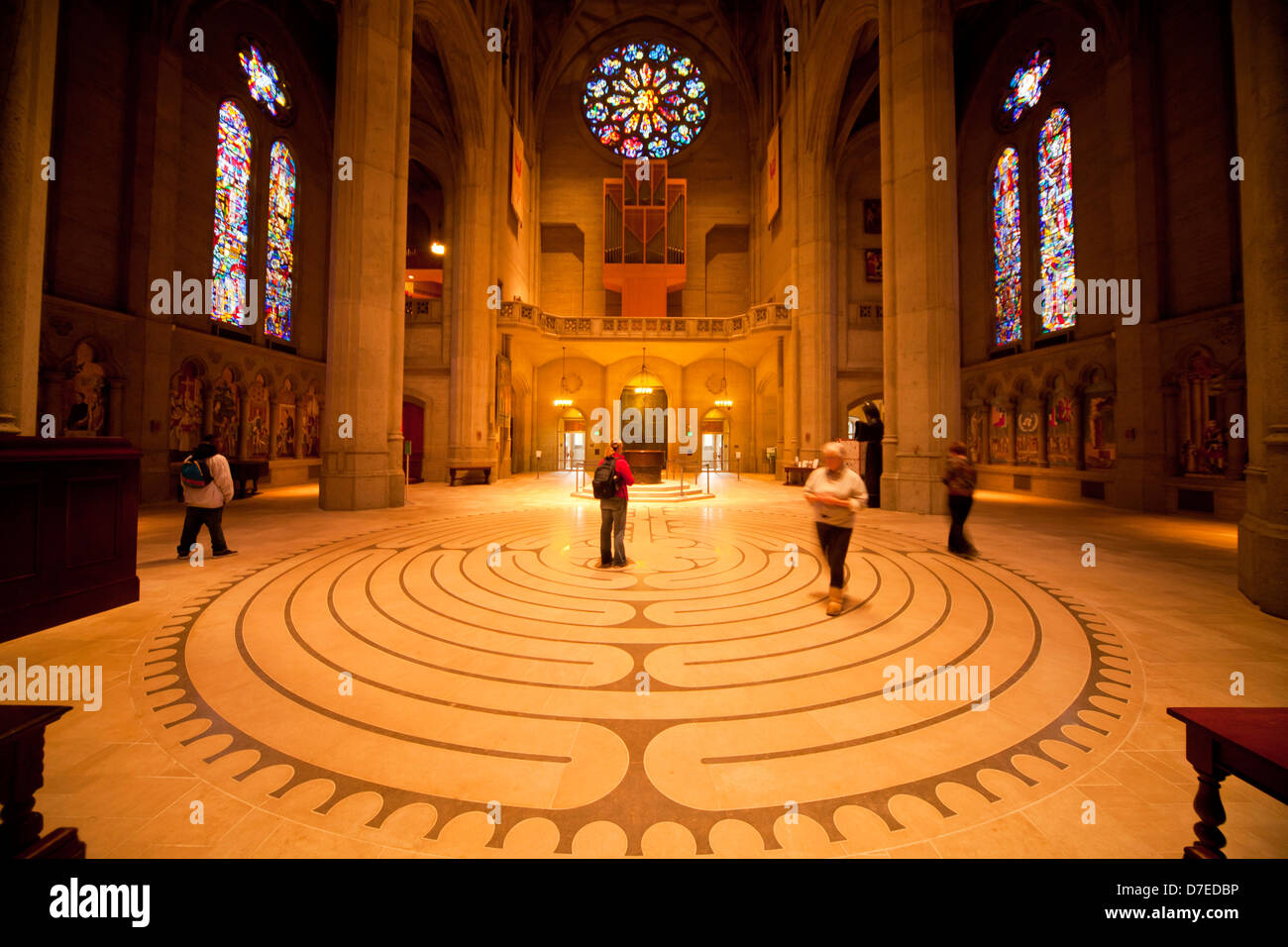 Labyrinth inside Grace Cathedral, San Francisco, California