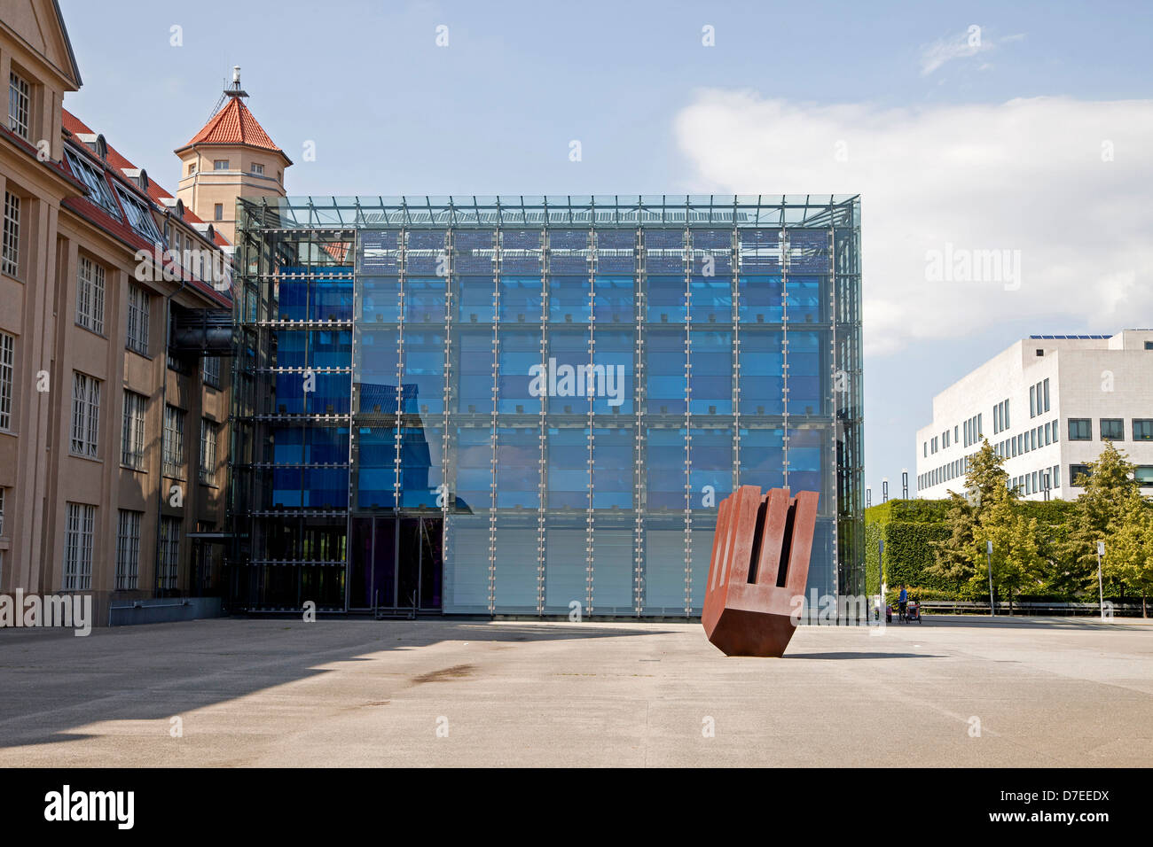 Modern building of the ZKM, Zentrum fuer Kunst und Medientechnologie, Centre for Art and Media Technology, in Karlsruhe, - Stock Image