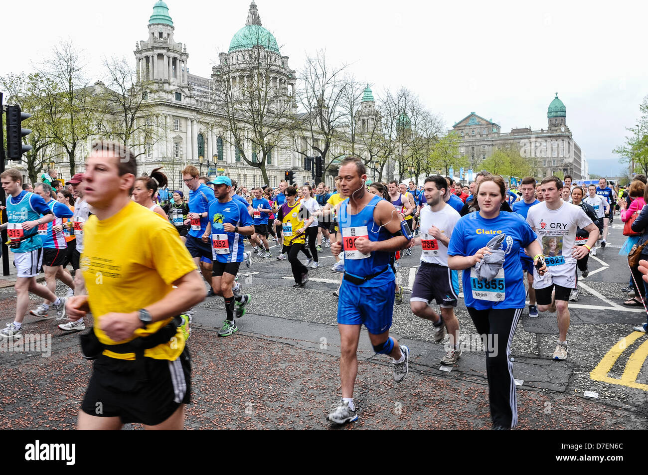 Belfast, Northern Ireland, UK. 6th May 2013. Thousands of runners compete in the 2013 Belfast City Marathon Credit: - Stock Image