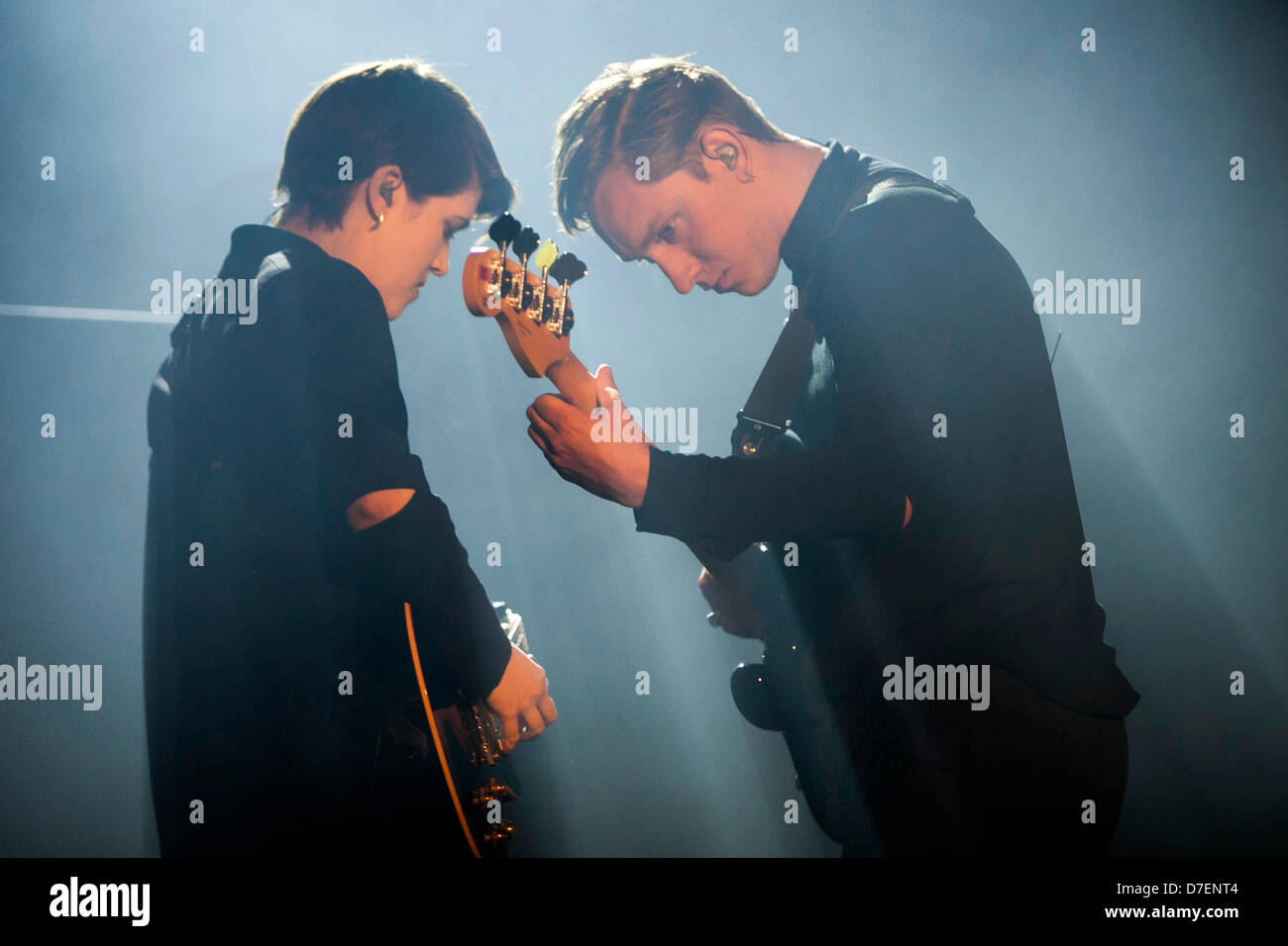 THE XX PERFORMING AT THE EVENT NIGHT + DAY, IN LISBON, PORTUGAL. - Stock Image
