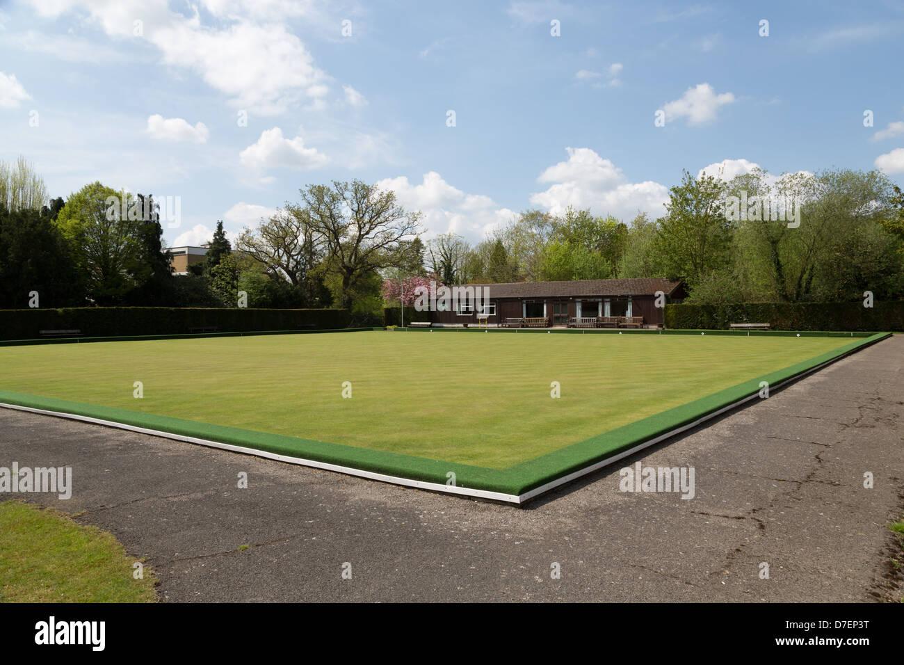 Woking Park Bowls Club. - Stock Image