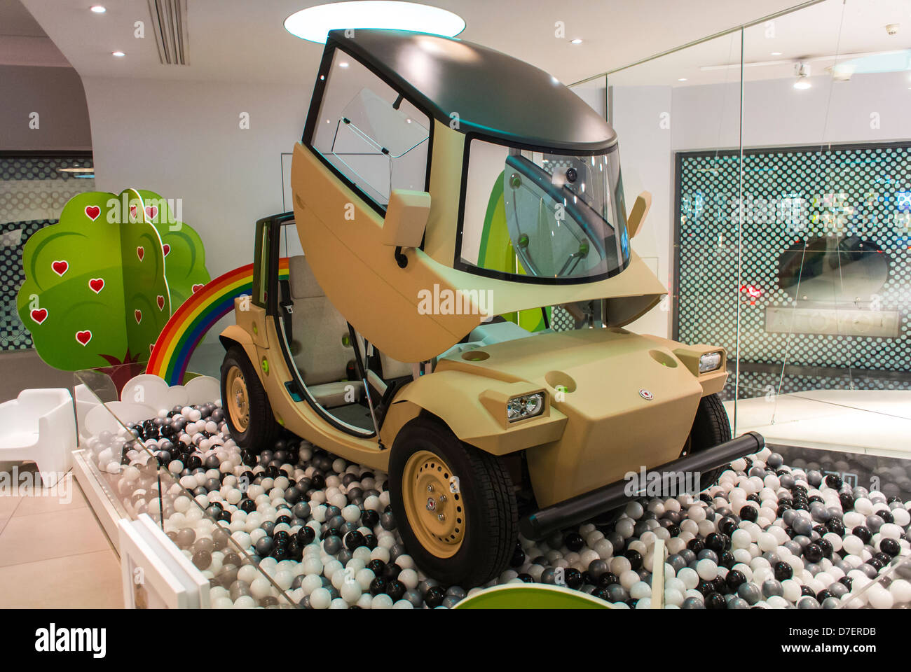 Paris, France, Toyota Corporation, New Car Showroom, Inside Store, Electric Concept Cars, 'Camatte' global - Stock Image