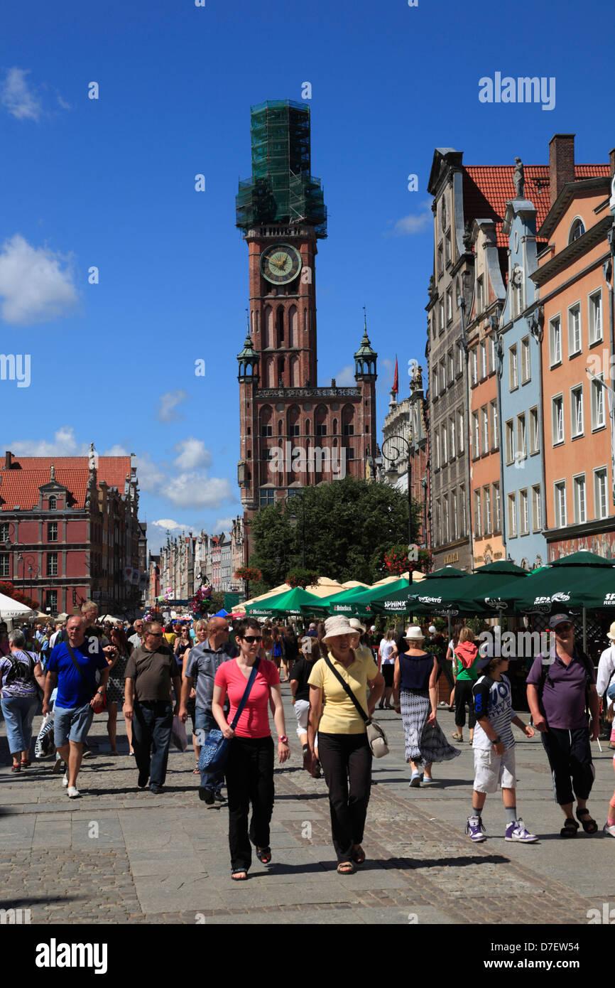 Gdansk, Long Market, Dlugi Targ, Langer Markt, Tourist, Poland Stock Photo