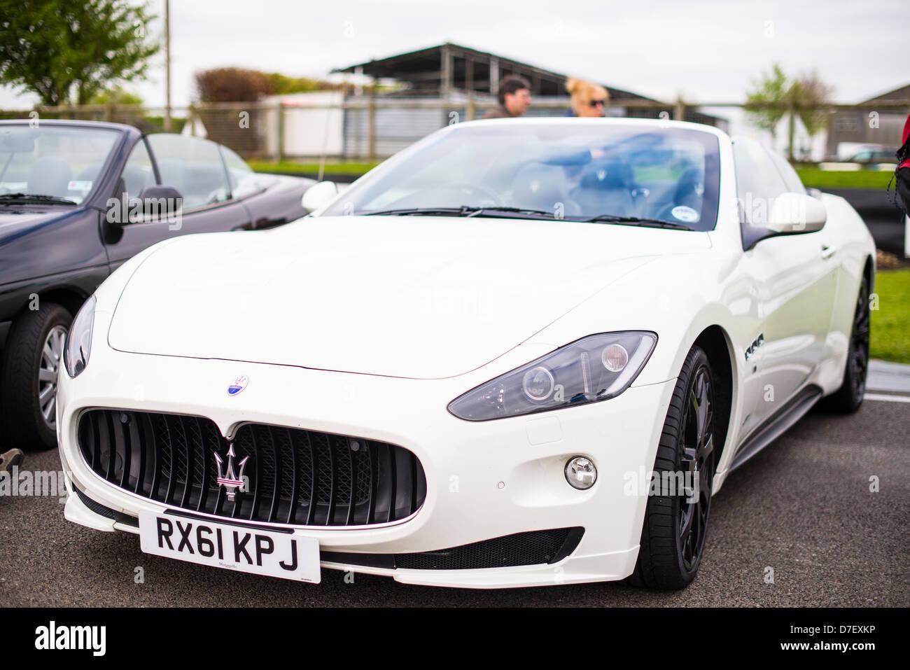 Maserati GranTurismo In White   Stock Image
