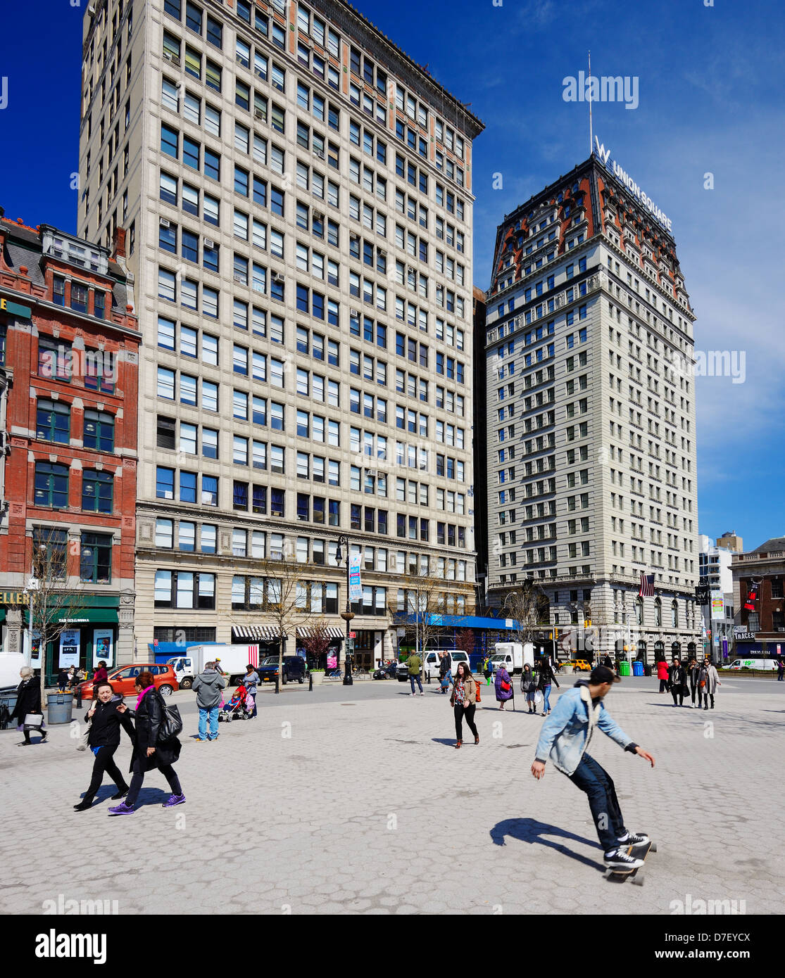 Northend of Union square in New York City - Stock Image