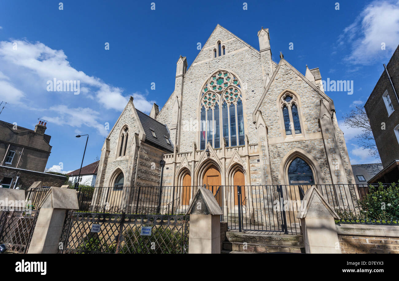 Highgate Road Chapel, Chetwynd Rd, London Borough of Camden, NW5 1BU Stock Photo