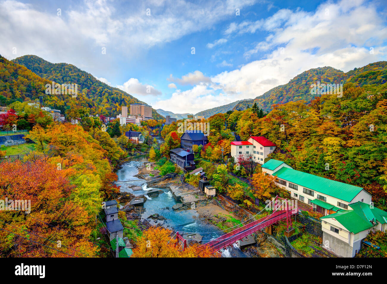 Jozankei, japan skyline - Stock Image
