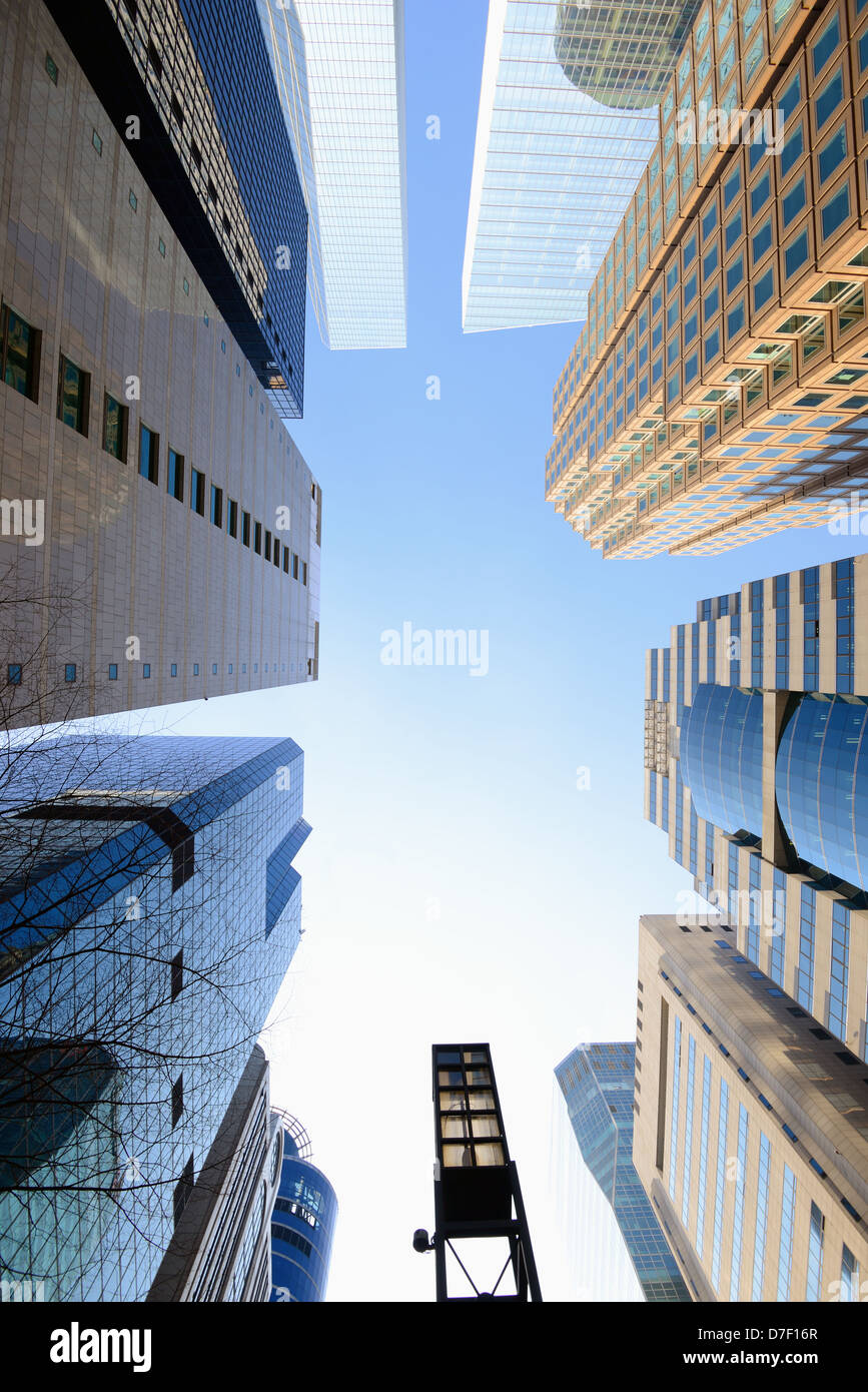 Office Buildings in the financial district of Seoul, South Korea - Stock Image