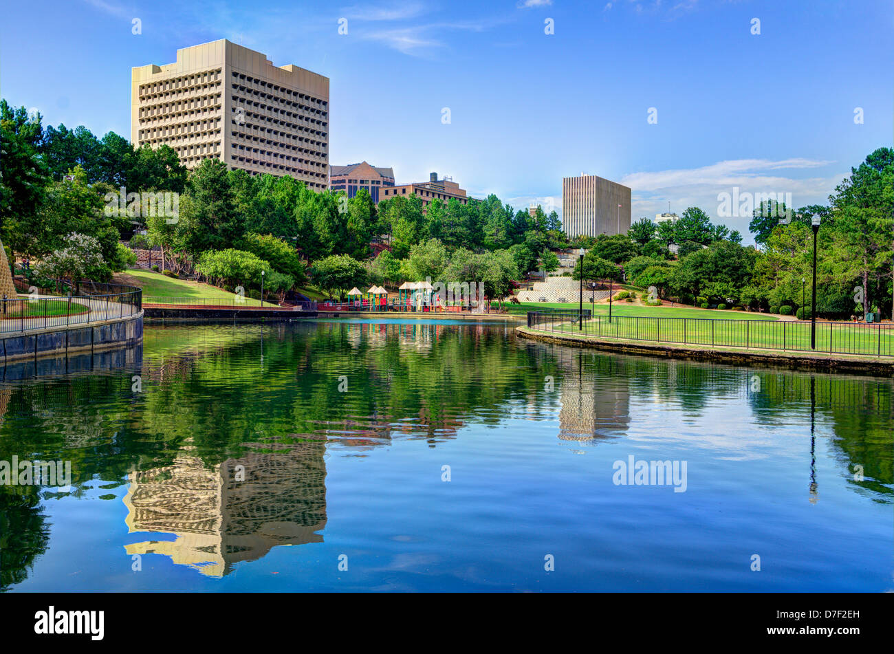 Finlay Park in Columbia, South Carolina. - Stock Image