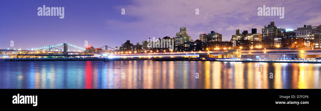 Brooklyn, New York coast along the East River - Stock Image