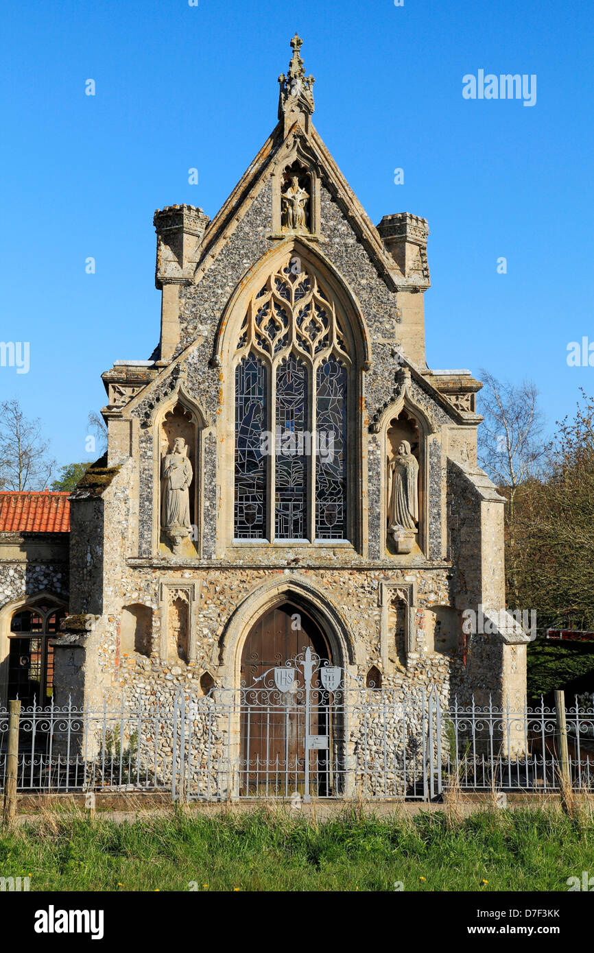 Houghton St. Giles, Norfolk, The Slipper Chapel, English Medieval chapels architecture England UK - Stock Image