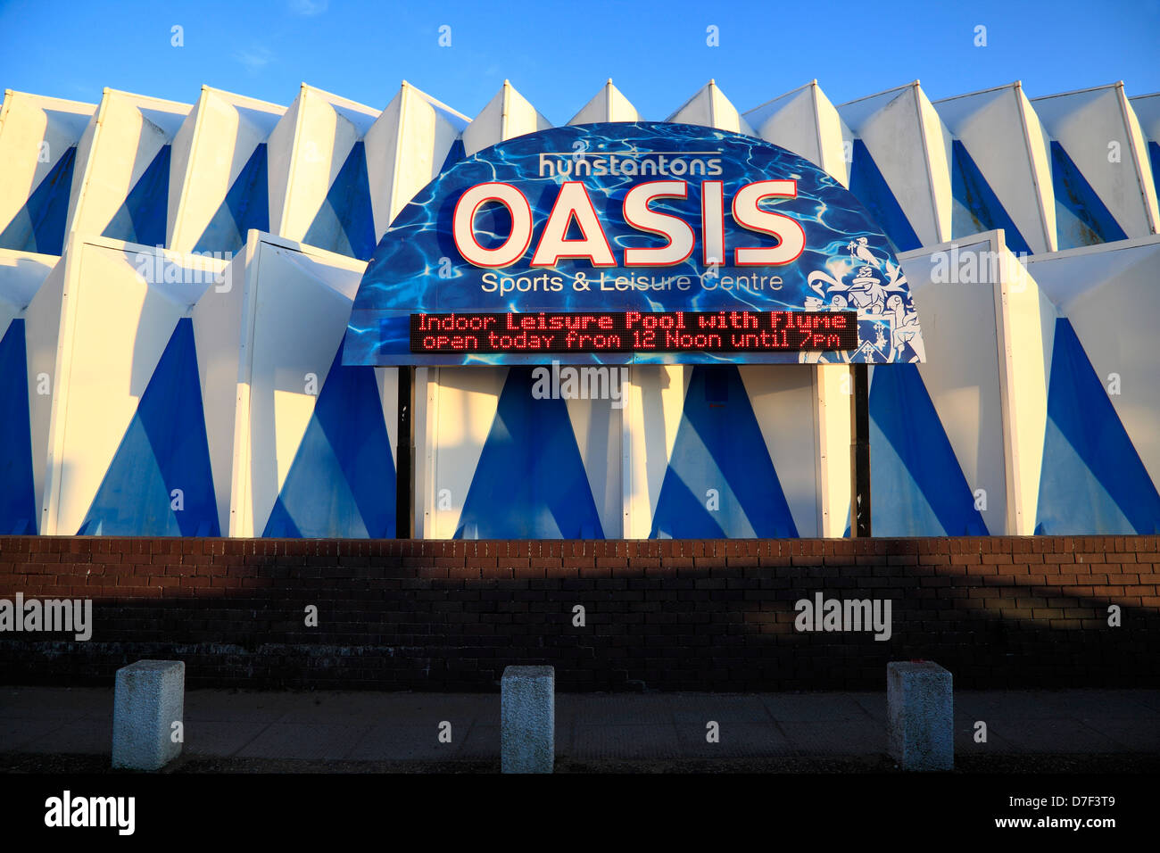 Hunstanton, Norfolk, The Oasis sports and leisure centre, center, England UK - Stock Image