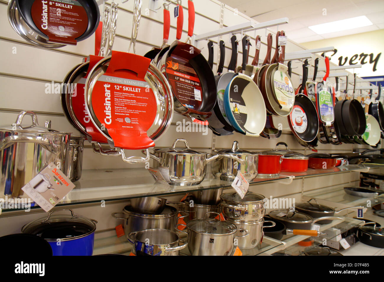 Miami Florida Marshallu0027s Discount Department Store Shopping Retail Display  For Sale Pans Cookware Pots Skillet Kitchen