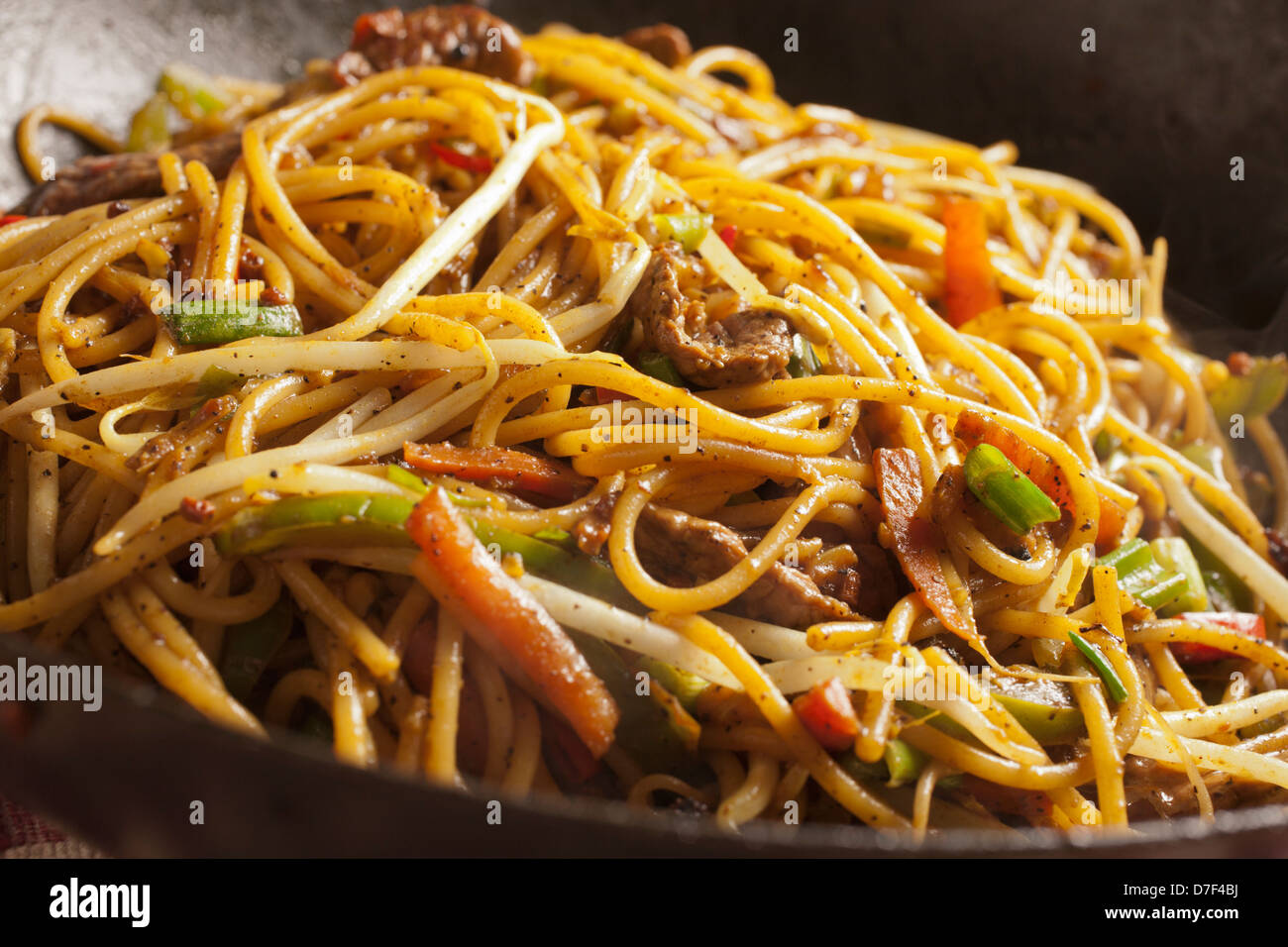 Nepali fried noodles, chow chow - Stock Image