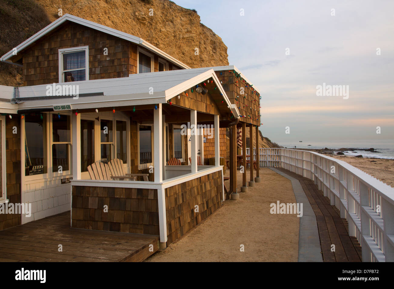 Crystal Cove Beach Cottages, Crystal Cove State Park, Newport Beach, Orange County, California. - Stock Image