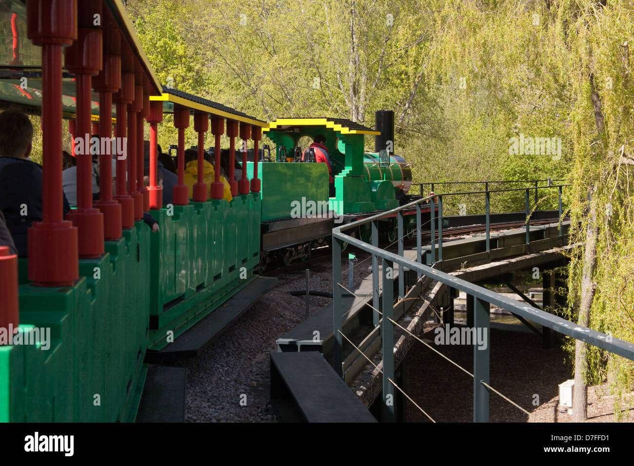 Orient Expedition steam train ride at Legoland Windsor, England Stock Photo