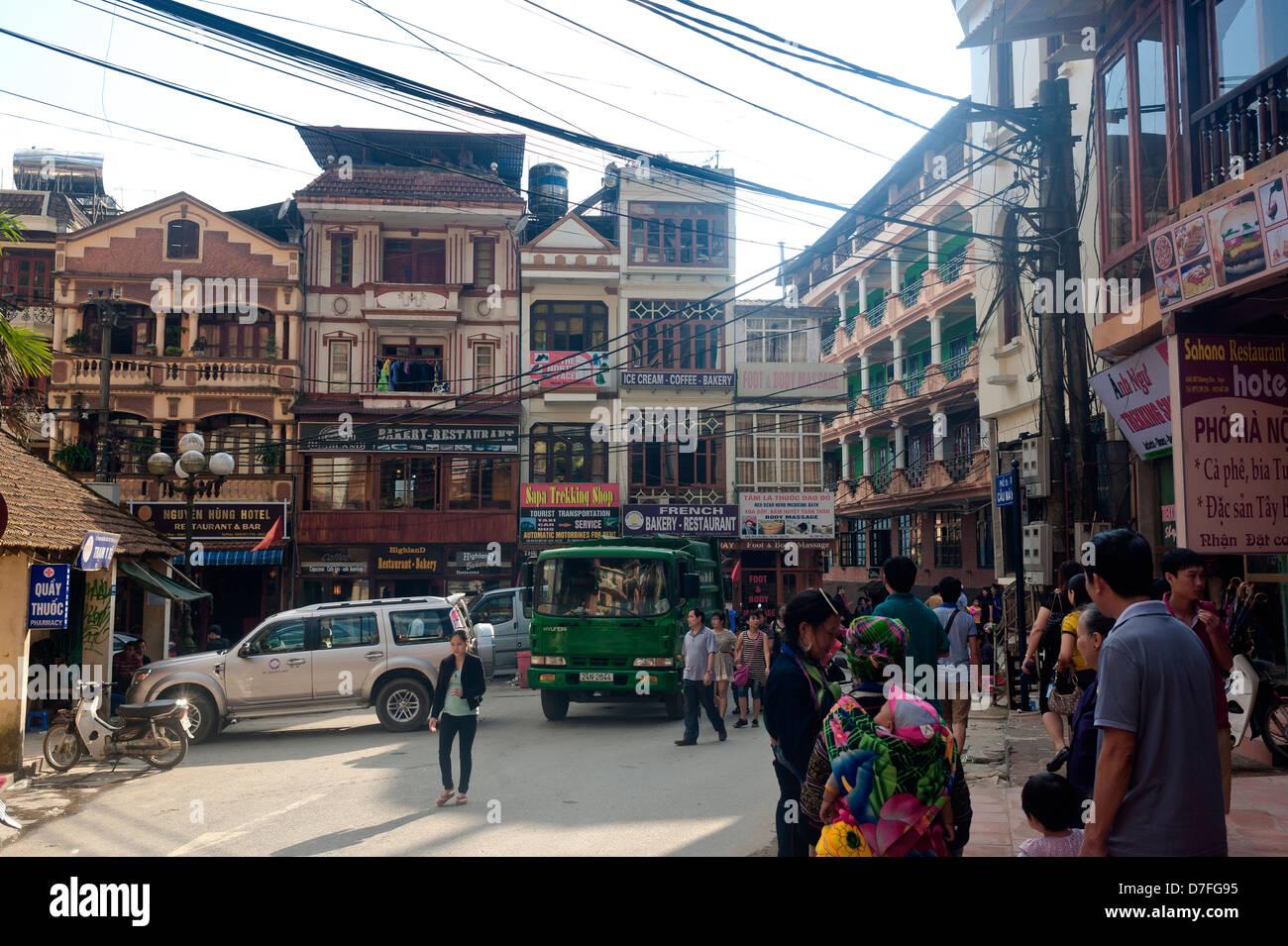 Sapa Vietnam - Village - Stock Image