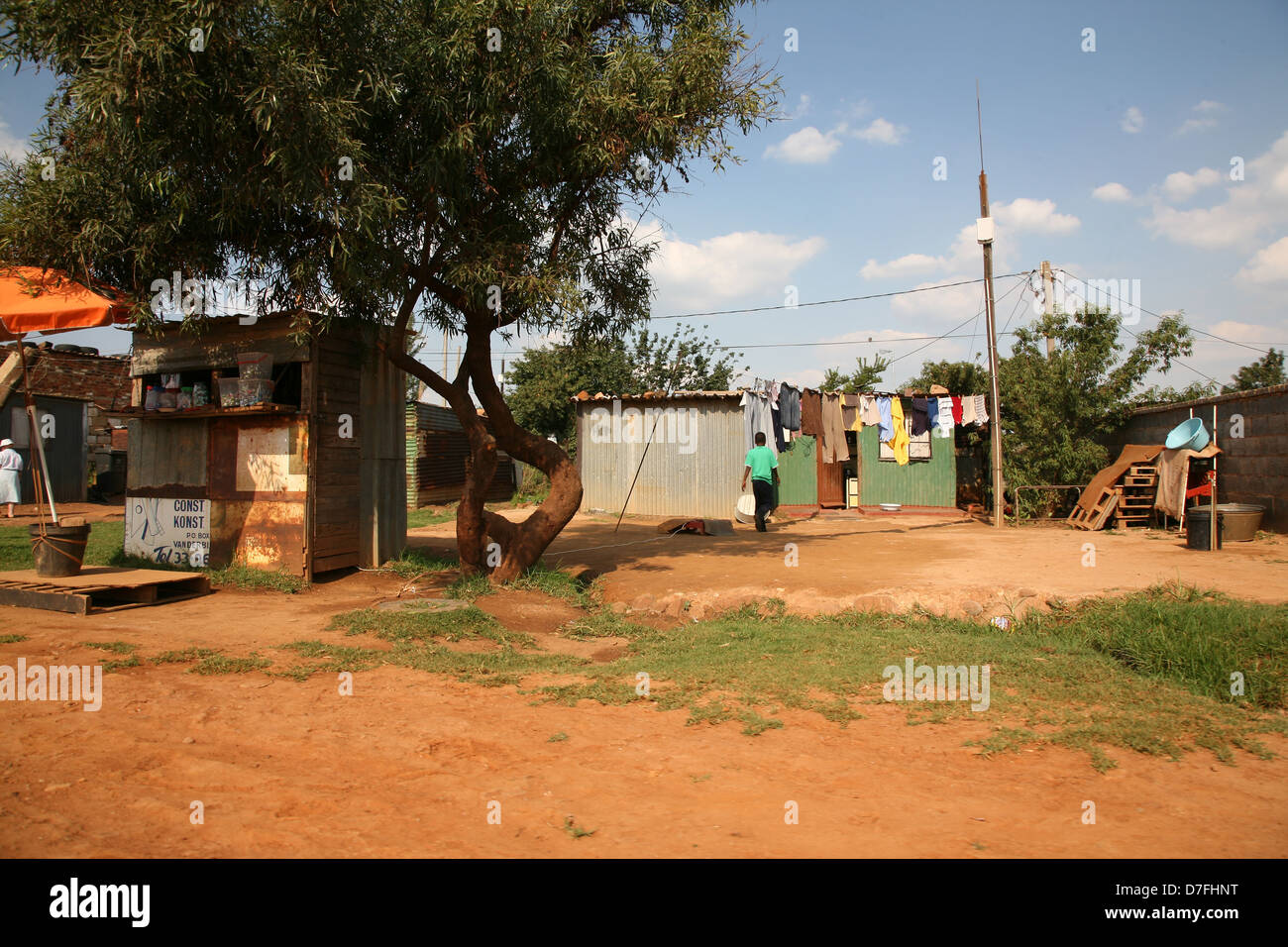 Rural settlement with small bussiness owners Stock Photo