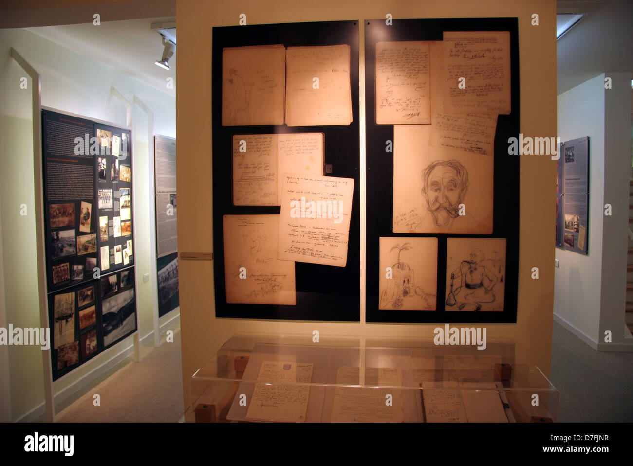 Archives of the German speaking Jewry museum at the Jekke Heritage center, Tefen - Stock Image