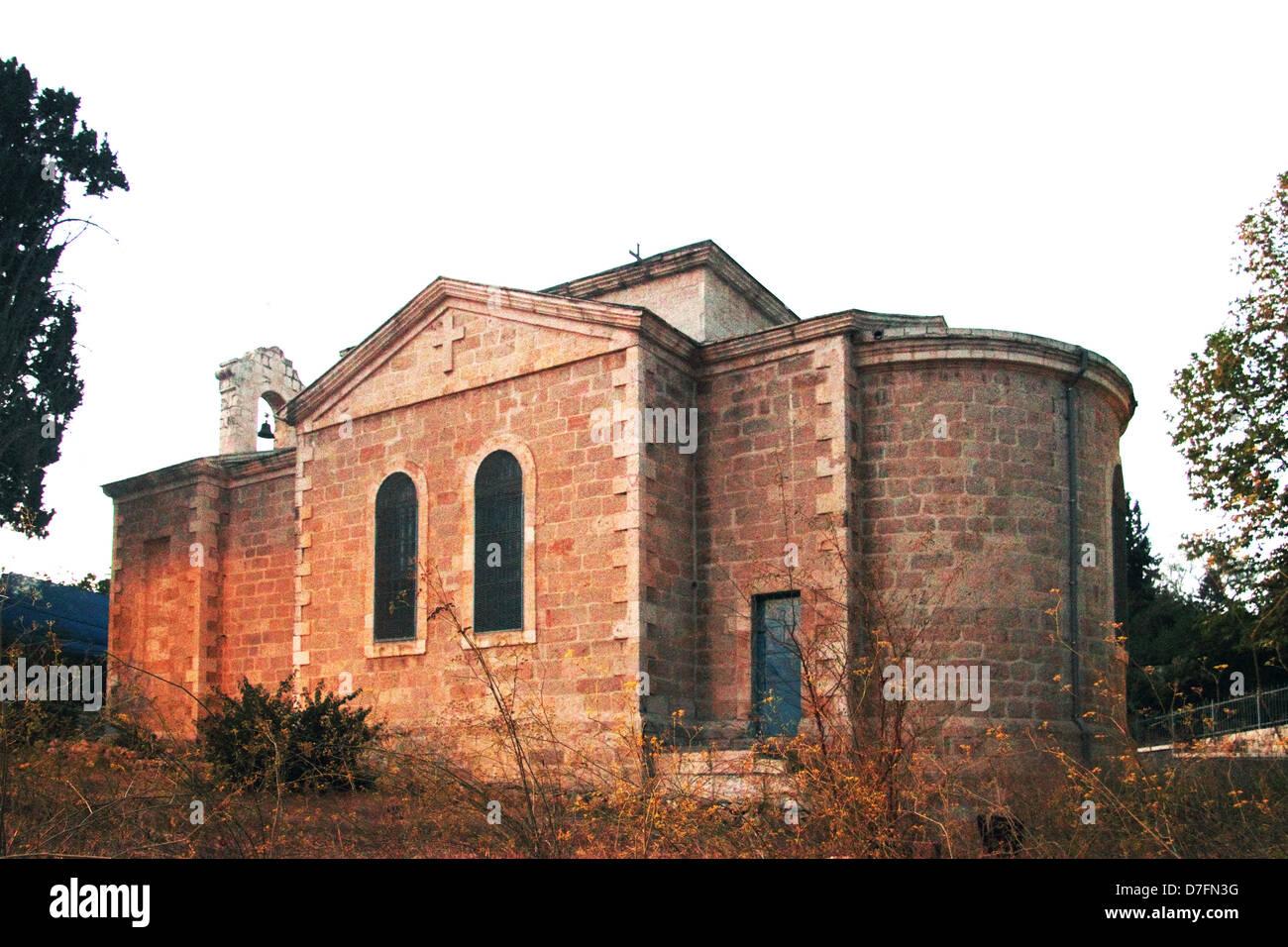Saint John the Baptist convent in Ein Kerem, Jerusalem - Stock Image