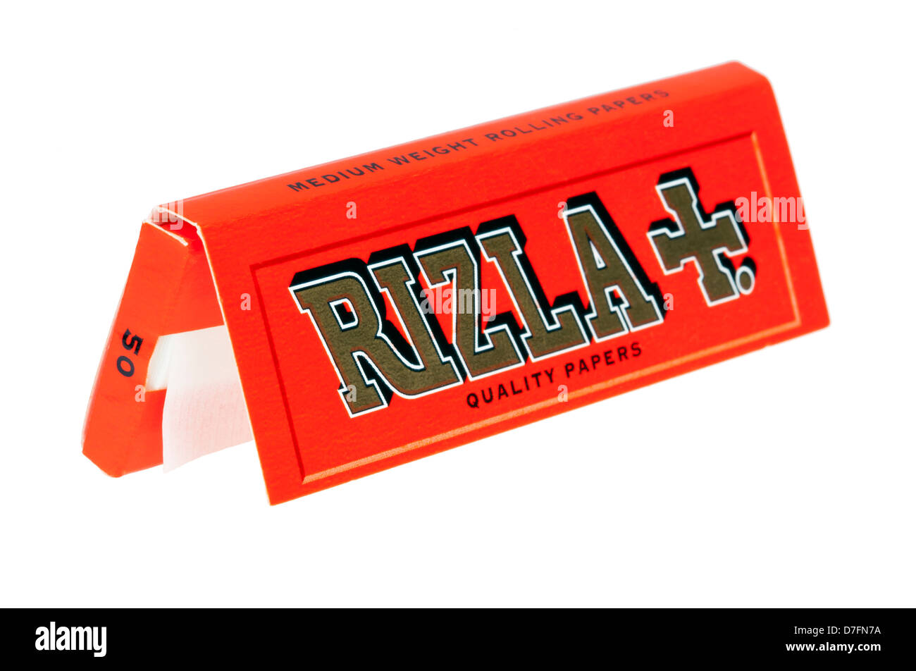 Tel-Aviv Israel - March 20th 2011: full pack Rizla rolling papers. This is orange pack short papers which contains - Stock Image