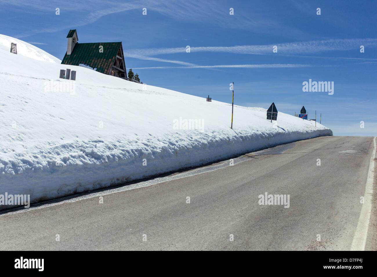 Italy Dolomites Veneto the Giau Pass - Stock Image