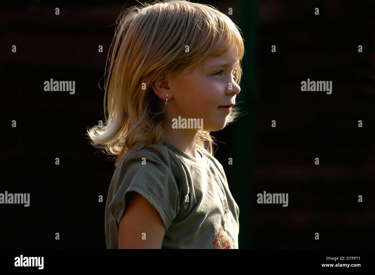 Girls, 5 years, portrait Stock Photo