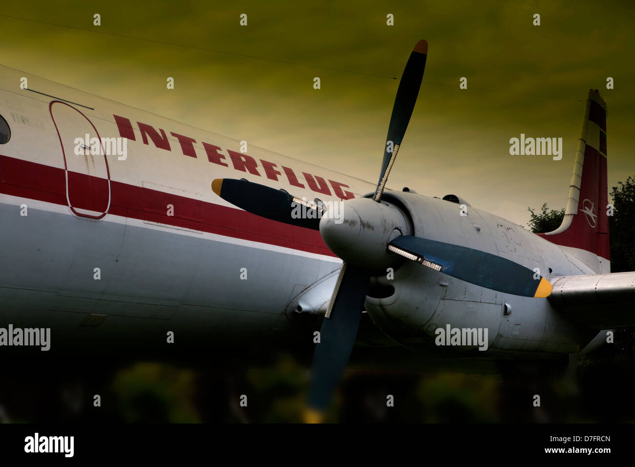 the passenger aircraft Lockheed Super Constellation or Super Connie, Aircraft Collection Hermeskeil, Germany, Europe - Stock Image