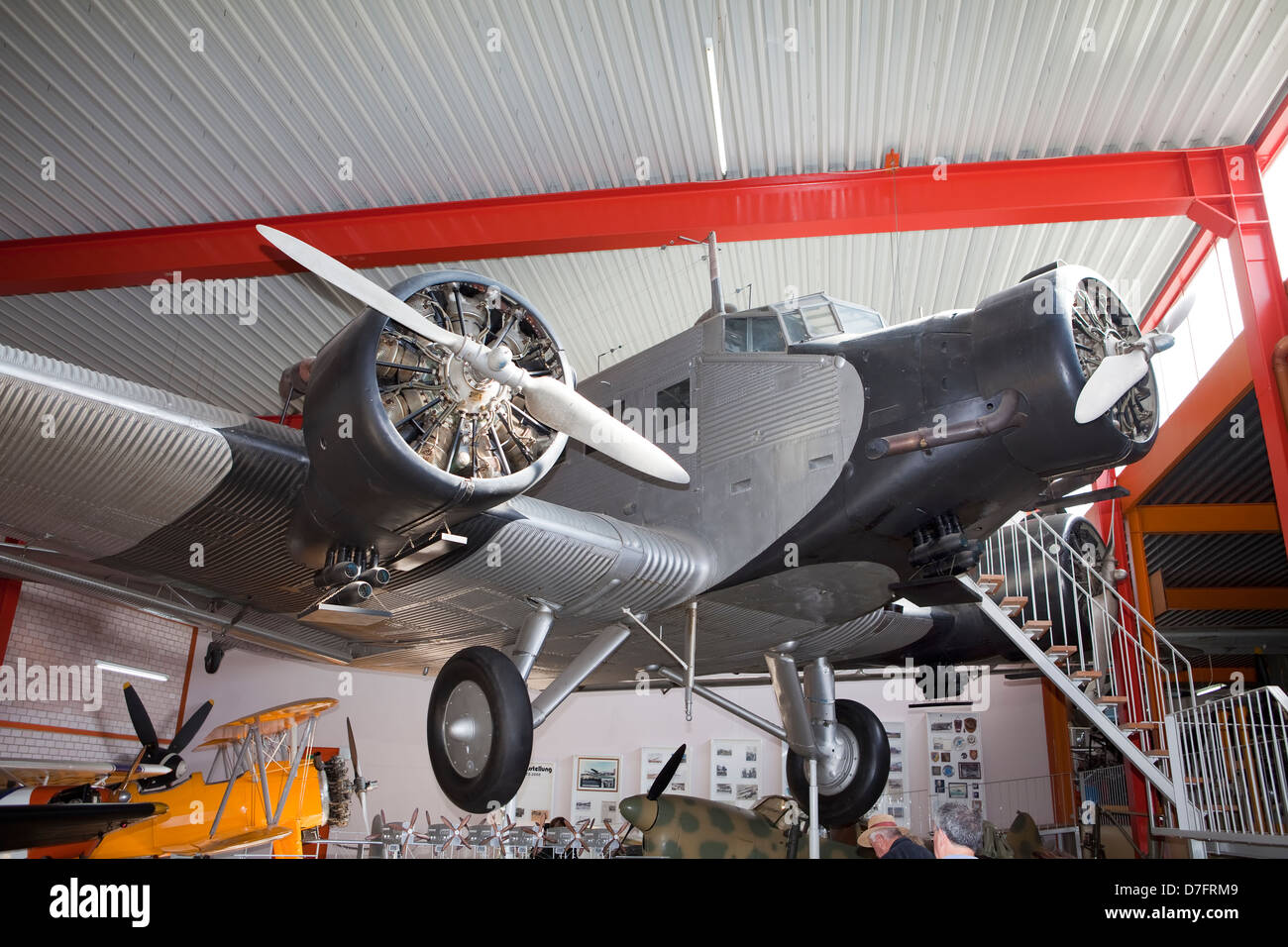 Detail of the passenger aircraft Junkers JU-52, Germany, Europe, - Stock Image