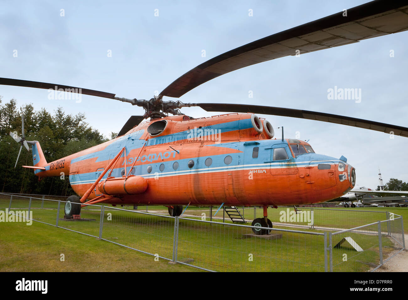 Aeroflot Mil Mi-6A, Heavy Soviet transportation helicopter , Aircraft Collection Hermeskeil, Germany, Europe - Stock Image