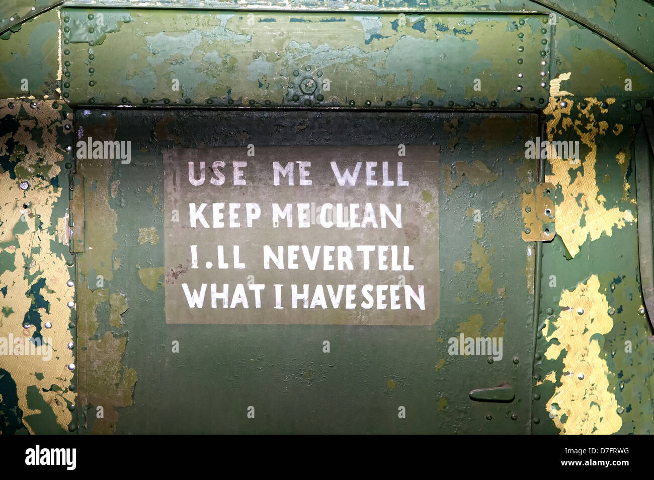 slogan on a rest room door of the Jordanian airforce, 1935 - Stock Image