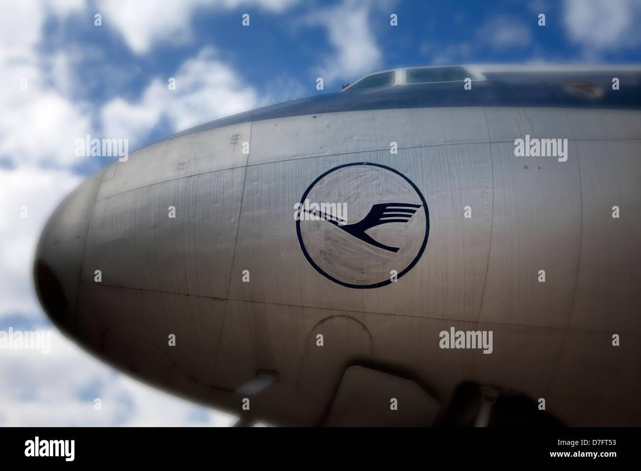 Lufthansa, Lockheed Super Constellation, - Stock Image