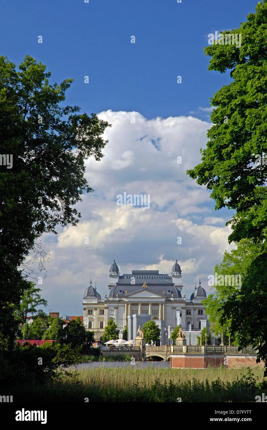 Germany, Mecklenburg-West Pomerania, Schwerin, theatre - Stock Image