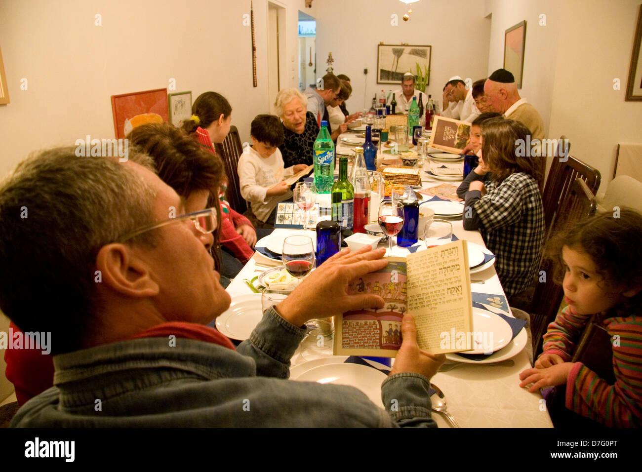 Seder (Passover night service) - Stock Image